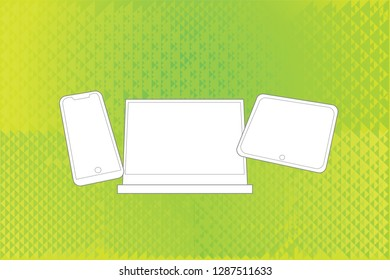 Mobile devices over abstract background
