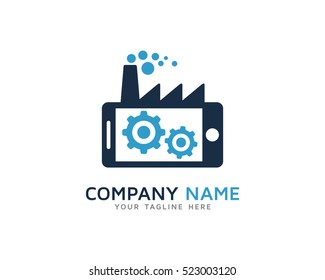 Mobile Factory Logo Design Template