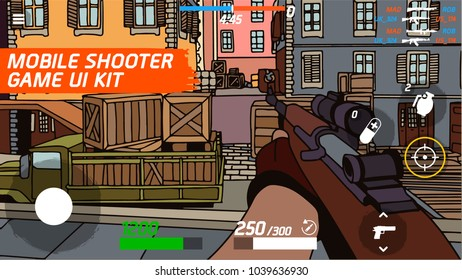 Mobile game shooter