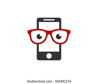 Mobile Geek Logo Design Template