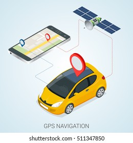 Mobile gps navigation concept. Vector