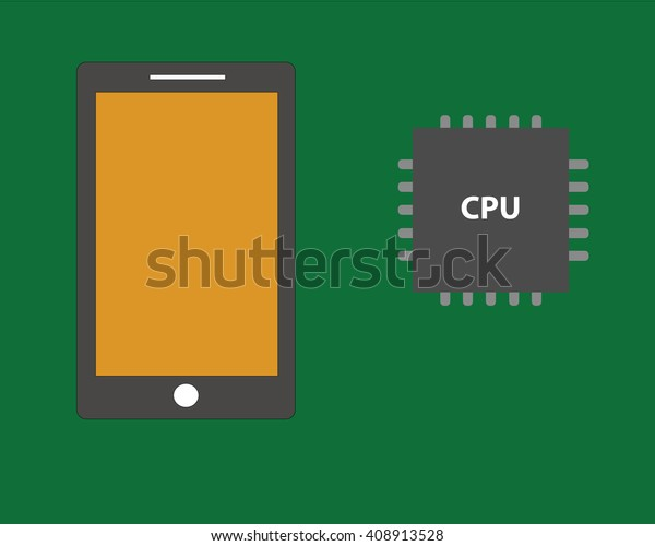 mobile hardware cpu vector tablet hardware stock vector royalty free 408913528 shutterstock