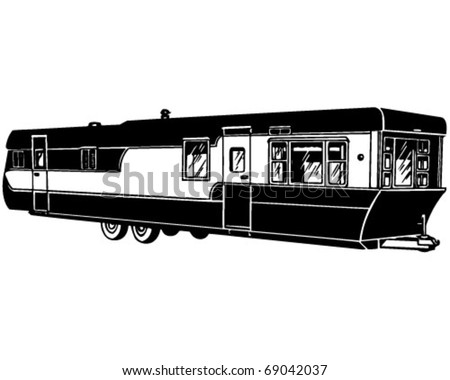 Mobile Home 2 Retro Clipart Illustration Stock Vector (Royalty Free on country home clipart, boat clipart, townhouse clipart, umbrella clipart, family home clipart, cabin clipart, north carolina home clipart, motorcycle clipart, home for rent clipart, the kitchen clipart, restaurant clipart, flood clipart, motorhome clipart, foreclosure clipart, mobile truck clip art, car clipart, rv park clipart, hello kitty home clipart, tipi clipart, texas home clipart,