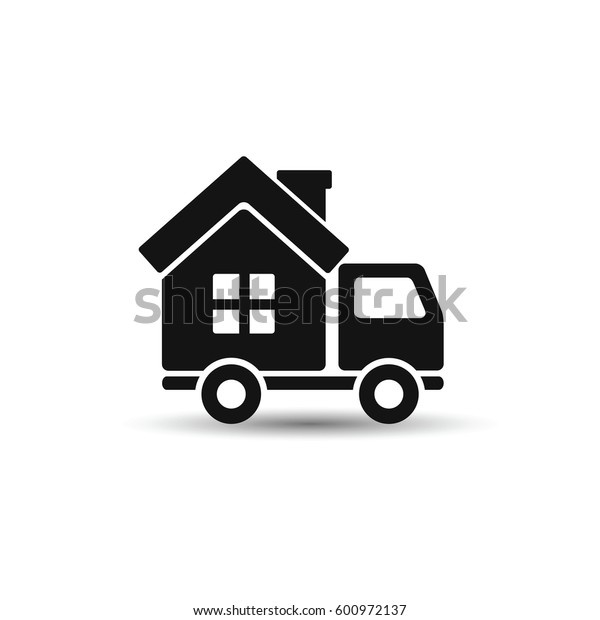 Mobile House icon. Vector style is flat symbol, white background.
