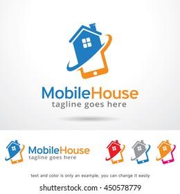 Mobile House Logo Template Design Vector