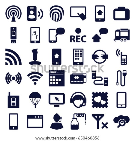 Mobile Icons Set Set 36 Mobile Stock Vector (Royalty Free