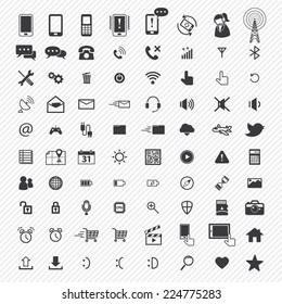 mobile icons set. illustration eps10