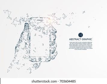 Mobile Internet technology, vector illustration.