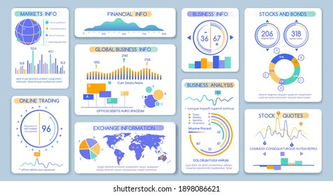Mobile marketing dashboard. Clean statistics software interface with graphs and charts, financial admin reporting ui design kit with infographics elements and info diagrams