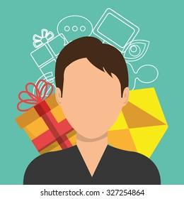 mobile marketing design, vector illustration eps10 graphic