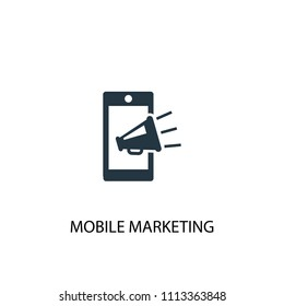Mobile marketing icon. Simple element illustration. Mobile marketing concept symbol design from Digital marketing collection. Can be used for web and mobile.