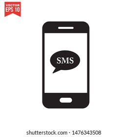 Mobile Message Icon in trendy flat style isolated on white background. email symbol for your web site design Vector illustration