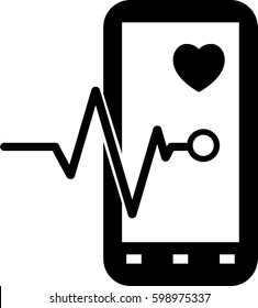 Mobile monitoring icon