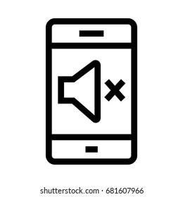 Mobile Mute  Icon