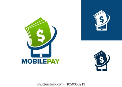 Mobile Pay Logo Template Design Vector, Emblem, Design Concept, Creative Symbol, Icon