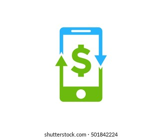 Mobile Payment Sync Logo Design Template