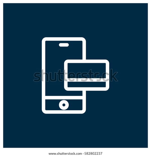 Mobile payment vector icon
