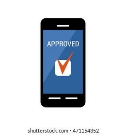 Mobile payments concept. Payment approved. Online shopping. Vector