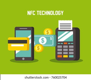 mobile payments using smartphone dataphone terminal and credit card money near field communication technology
