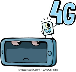 mobile phone and 4G conection