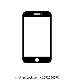 Mobile phone with blank screen.  Flat style - stock vector.
