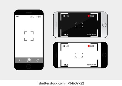 mobile phone camera interface vector viewfinder  interface