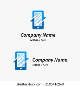 Mobile Phone Cellphone Repair Logo Design Template
