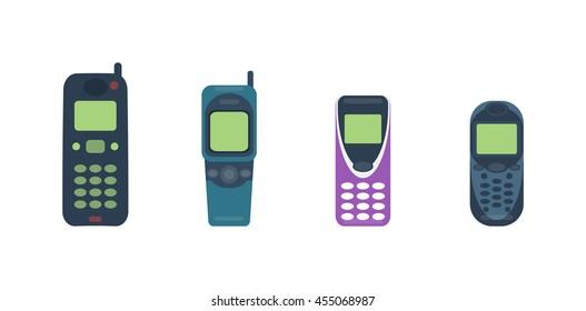 Mobile phone cellphone vector illustration.