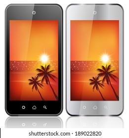 Mobile phone communication sea