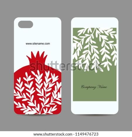 Mobile phone design pomegranate
