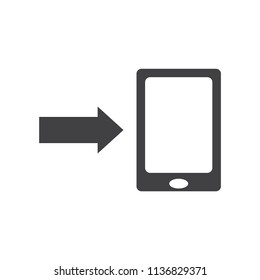 Mobile Phone Download vector icon for web design in a flat style