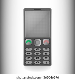 mobile phone in grey colors