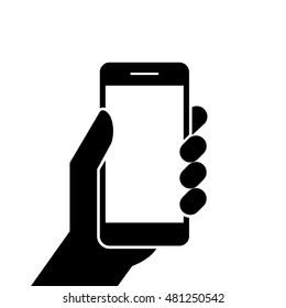 Hand Holding Handphone Images Stock Photos Vectors Shutterstock