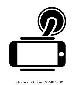 Mobile Phone Holder icon on white background