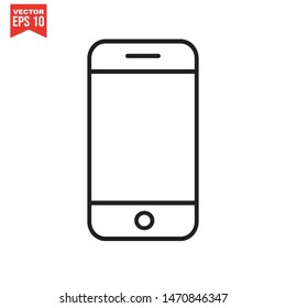 Mobile Phone icon template color editable. Smartphone symbol vector sign isolated on white background. Simple logo vector illustration for graphic and web design.