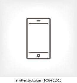 Mobile phone icon vector illustration. Linear symbol with thin outline. The thickness is edited. Minimalist style.