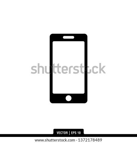 Mobile Phone Icon Vector Illustration Logo Stock Image