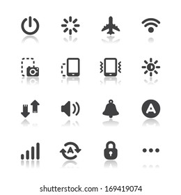 Mobile Phone Icons for application with White Background