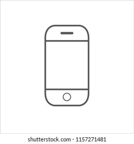 Mobile phone line Icon