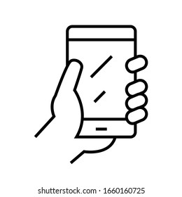 Mobile phone line icon, concept sign, outline vector illustration, linear symbol.