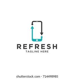 mobile phone logo stylized creative design template
