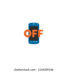 Mobile Phone Off Vector Flat Icon