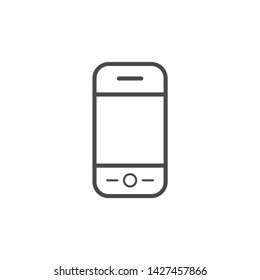 Mobile Phone outline Icon isolated on white background