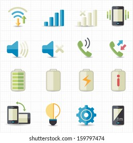 Mobile phone profile icons