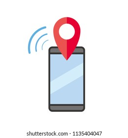 Mobile phone receive location information push notification