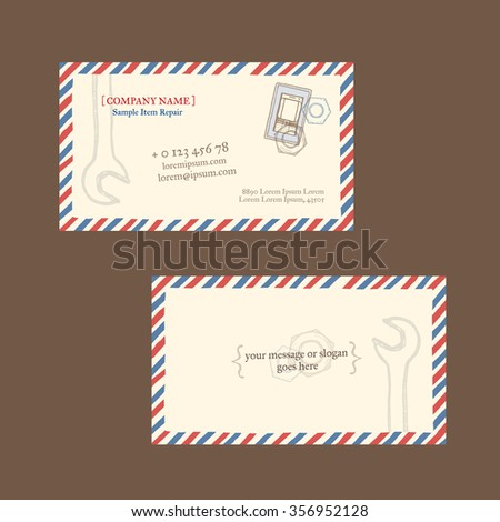 Mobile Phone Repair Business Card Vector Stock Vector (Royalty Free ... a6a400973