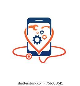 Mobile Phone Repair Logo