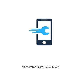Mobile Phone Repair Logo Design Element