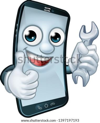 Mobile Phone Repair Service Perhaps Plumber Stock Vector (Royalty