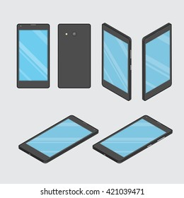 Mobile phone. Smart phone. Set phone at different angles